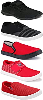 WORLD WEAR FOOTWEAR Sports Running Shoes/Casual/Sneakers/Loafers Shoes for MenMulticolors (Combo-(5)-1219-1221-1140-725-1169)