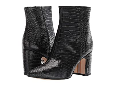 Sam Edelman Hilty 2 (Black Kenya Croco Emboosed Leather) Women