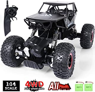 SGILE RC Car Toy for Kids, 1:14 Remote Control Car, 4WD Rechargable Off Road Crawler Car All-Terrain
