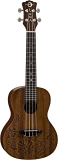 Luna Mo'o Mahogany Concert Ukulele with Lizard Graphic & Gig Bag, Satin Natural