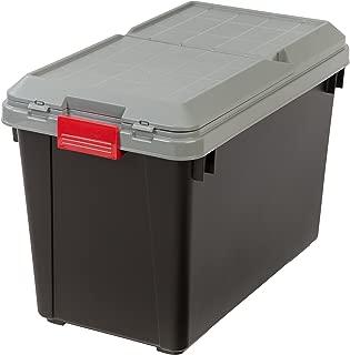IRIS USA, Inc. SIA-700D BLK/GRY/RED 4PC SET 1PK [ECOM] IRIS 102 Quart Store-It-All Tote, 4 Pack, Black, 25.5, Buckle