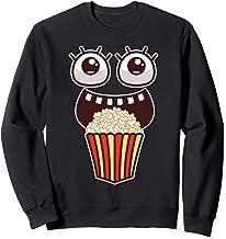 Kawaii Eyes Popcorn Monster Movies Pop Corn Costume Gifts Sweatshirt