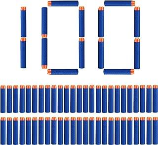 Dardos nerf Espuma, StillCool 100pcs espuma bala Blasters para Nerf N-strike Elite serie 7.2cm , azul oscuro (tipo de bala)