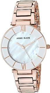 Anne Klein Women's AK/3198LGRG Swarovski Crystal Accented Rose Gold-Tone Bracelet Watch