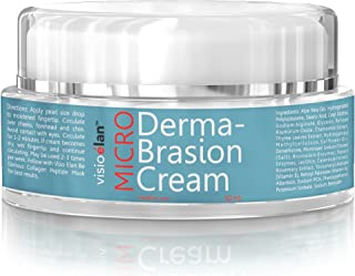 Microdermabrasion Cream Gentle Beads by Visio Elan - Exfoliating Face Scrub - Moisturizing Dual Action Base Reduces Pores, Wrinkle & Fine Lines - Men & Women Surfacing Treatment - All Skin Types