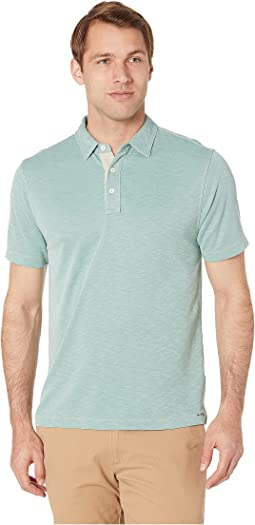 Lux Textured Softest Knit Short Sleeve Polo