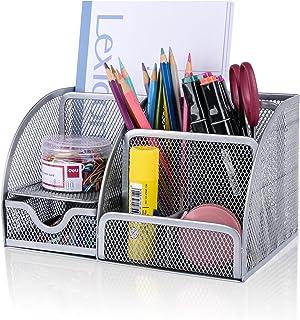 Desk Organizer Office Accessories, Multi-Functional Mesh...