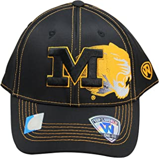 official photos 06f85 3966c NCAA Top of the World Missouri Tigers One-Fit Flex Fit Logo Cap Hat