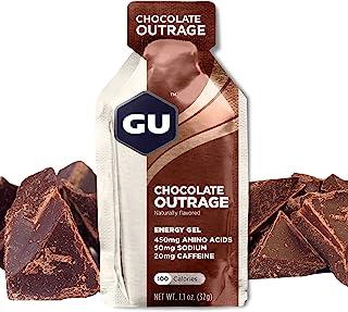 GU Energy Original Sports Nutrition Energy Gel, Chocolate Outrage - 24 Count Box