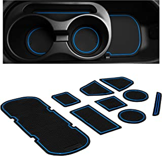 CupHolderHero for Subaru BRZ, Toyota 86, and Scion FR-S 2012-2020 Custom Liner Accessories � Premium Cup Holder and Center Console Inserts 9-pc Set (Blue Trim)