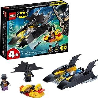 LEGO DC Batboat The Penguin Pursuit! 76158 Top Batman Building Toy for Kids, with Super-Hero Minifigures, 2 Boats, a Batar...