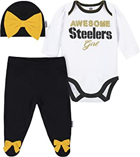JGAMauijf Boy and Girls Fleece Crew-Neck Sweatshirts Pittsburgh Steeler Youth Sport Pullover Tops for Kids Clothes 2T