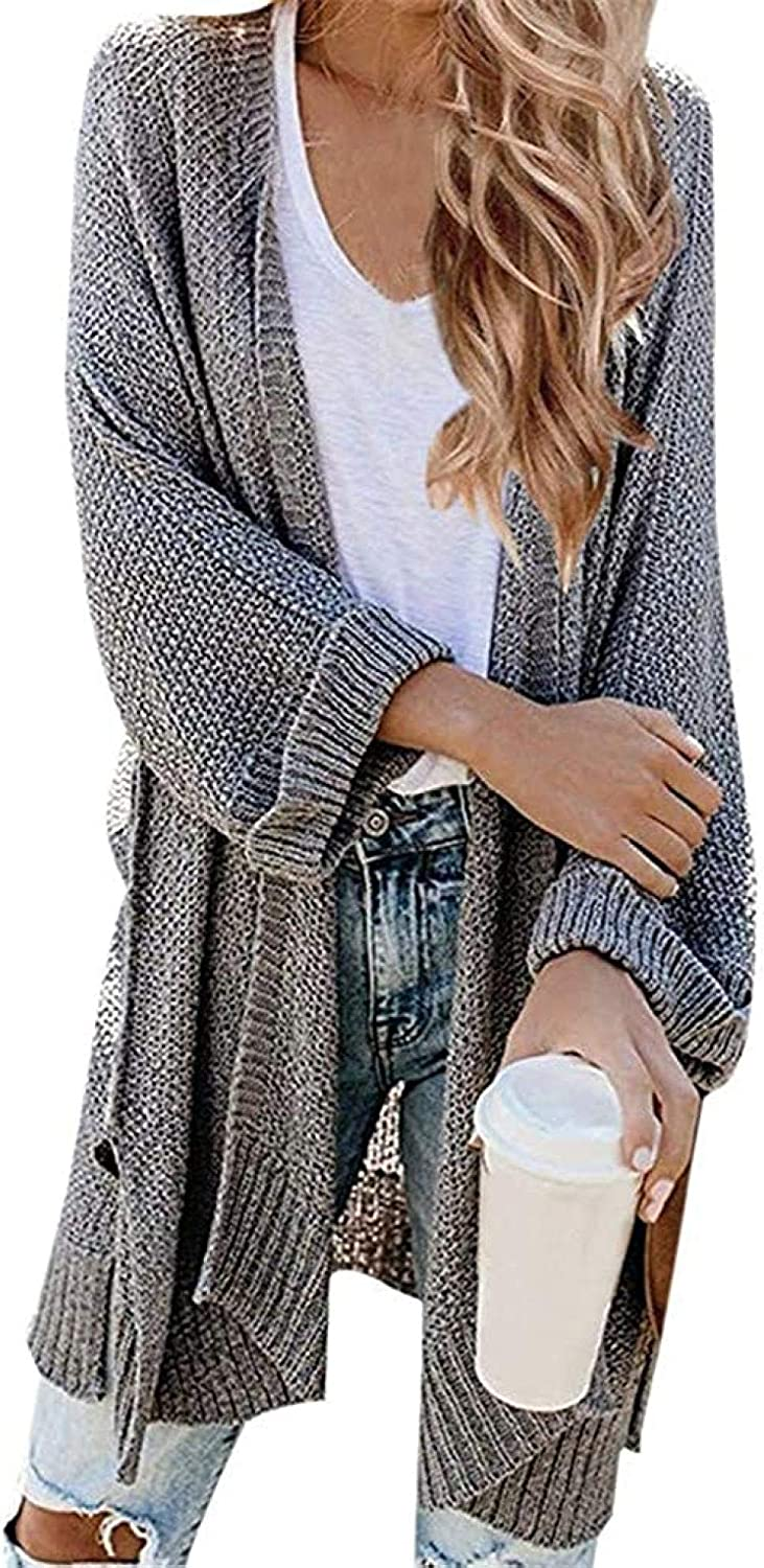LIYDENG Women Casual Long Sweater Limited Special Price Soft Cardigan Multicolor Simpl Finally resale start