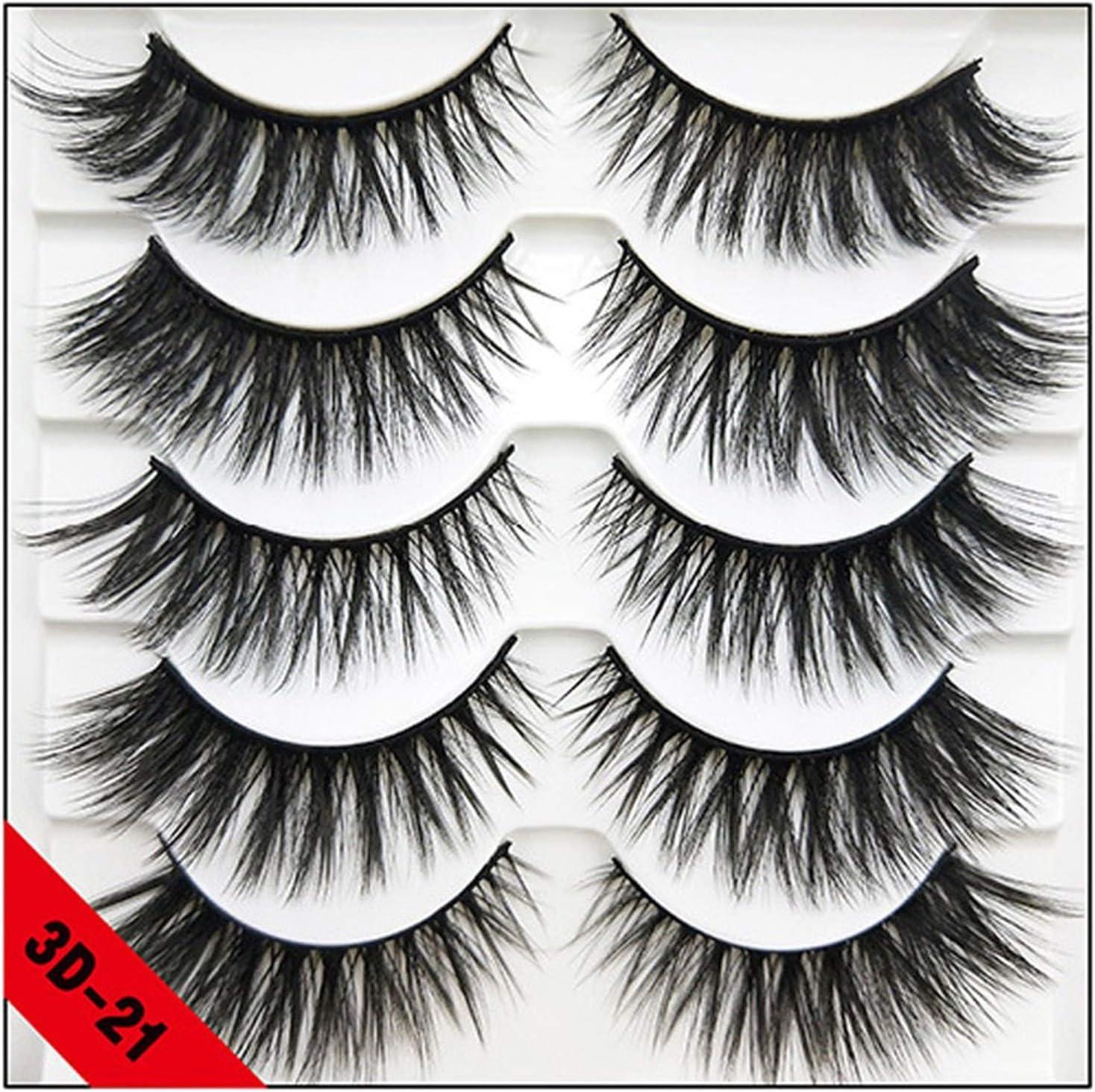 5 Jacksonville Mall Max 80% OFF Pairs Natural False Eyelashes Fake Long Lashes Makeup 3d Mink