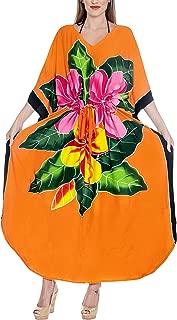 Women's One Size Kaftan Tank Dress Beach Swimwear Cover Ups Drawstring