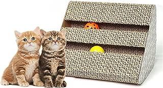 Old Tjikko Cat Scratch Pad,Scratcher with Catnip,Scratching Posts,Cat Toy Scratch Board Lounge with Bell-Ball