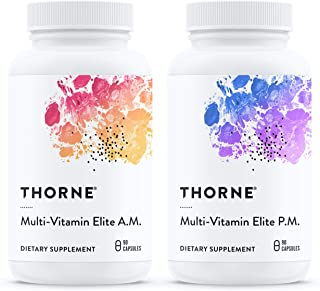 Thorne Research - Multi-Vitamin Elite - A.M. and P.M. Formula to Support a High-Performance Nutrition Program - NSF Certif...