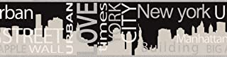 A.S. Création 935671 - Cenefa No Autoadhesiva, color Gris Metálico/Negro 5,00 m x 0,13 m