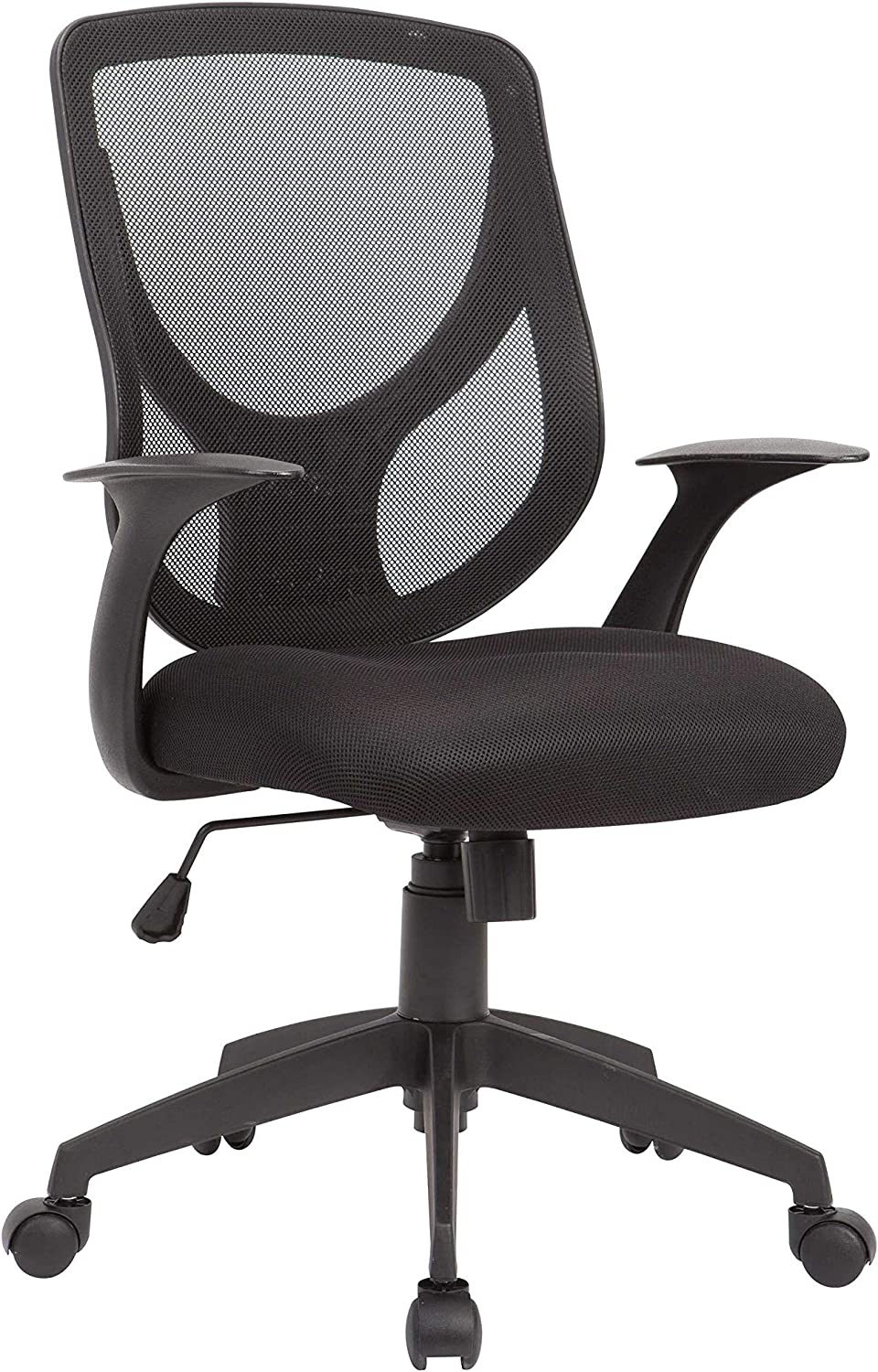 Home Roots Furniture Adjustable Swivel Office Chair with Mesh Seat and Back - Black