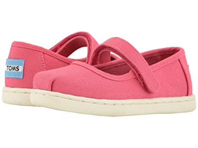 TOMS Kids Mary Jane (Infant/Toddler/Little Kid) (Bubblegum Canvas) Girls Shoes