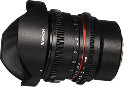 Rokinon 8mm T3.8 AS IF MC CSII DH Cine Fisheye Lens with Removable Hood for Olympus and Panasonic Micro 4/3 (MFT) Mount Digital Cameras (RKHD8MV-MFT)