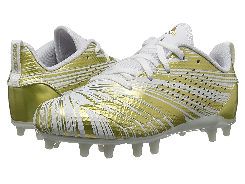 adidas Kids Adizero 5 Star 7.0 Football (Little Kid/Big Kid) (Gold Metallic/White) Boys Shoes