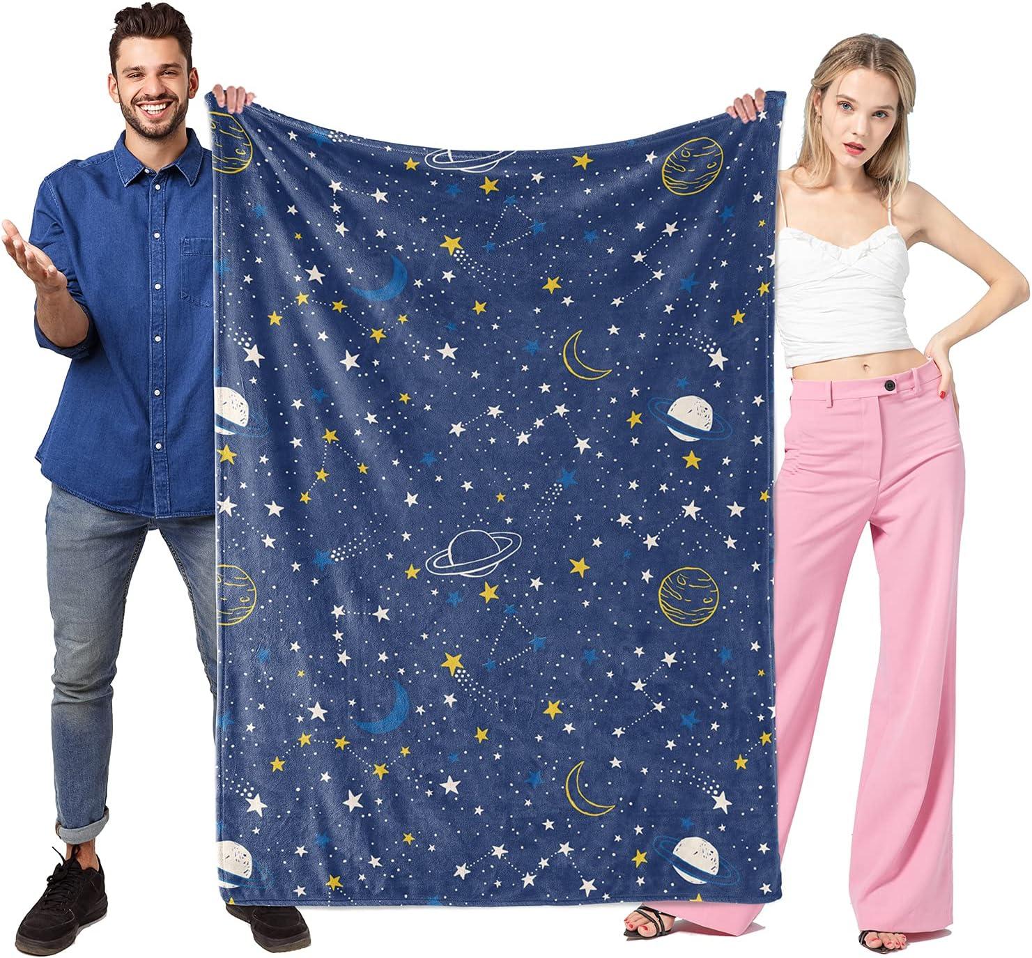 Sinpooo Galaxy Stars Pattern Flannel Thick Max Ranking TOP4 47% OFF Soft L Blanket Fleece