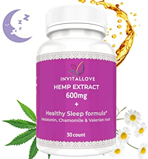 Healthy Sleep Formula - Hemp Extract | 30 Capsules | Natural Sleep Aid | Herbal Supplement