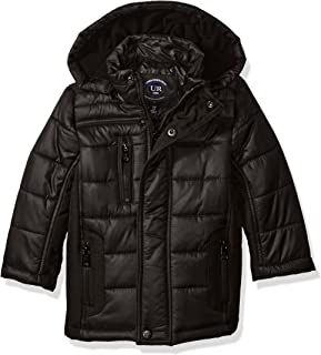 Urban Republic Boys' Toddler Matt Ciree Puffer Jacket with 3 Pockets and Zip Off Hood
