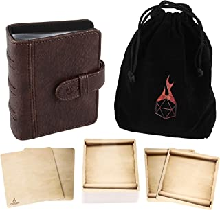Forged Dice Co Spellbook of Incantations (Tome Edition) Spellbook Card Holder & Deck of Dry Erase Cards with Velvet Storag...