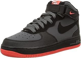 Boys Air Force 1 Mid (GS) Basketball Shoes Grey/Black/Crimson 314195-045
