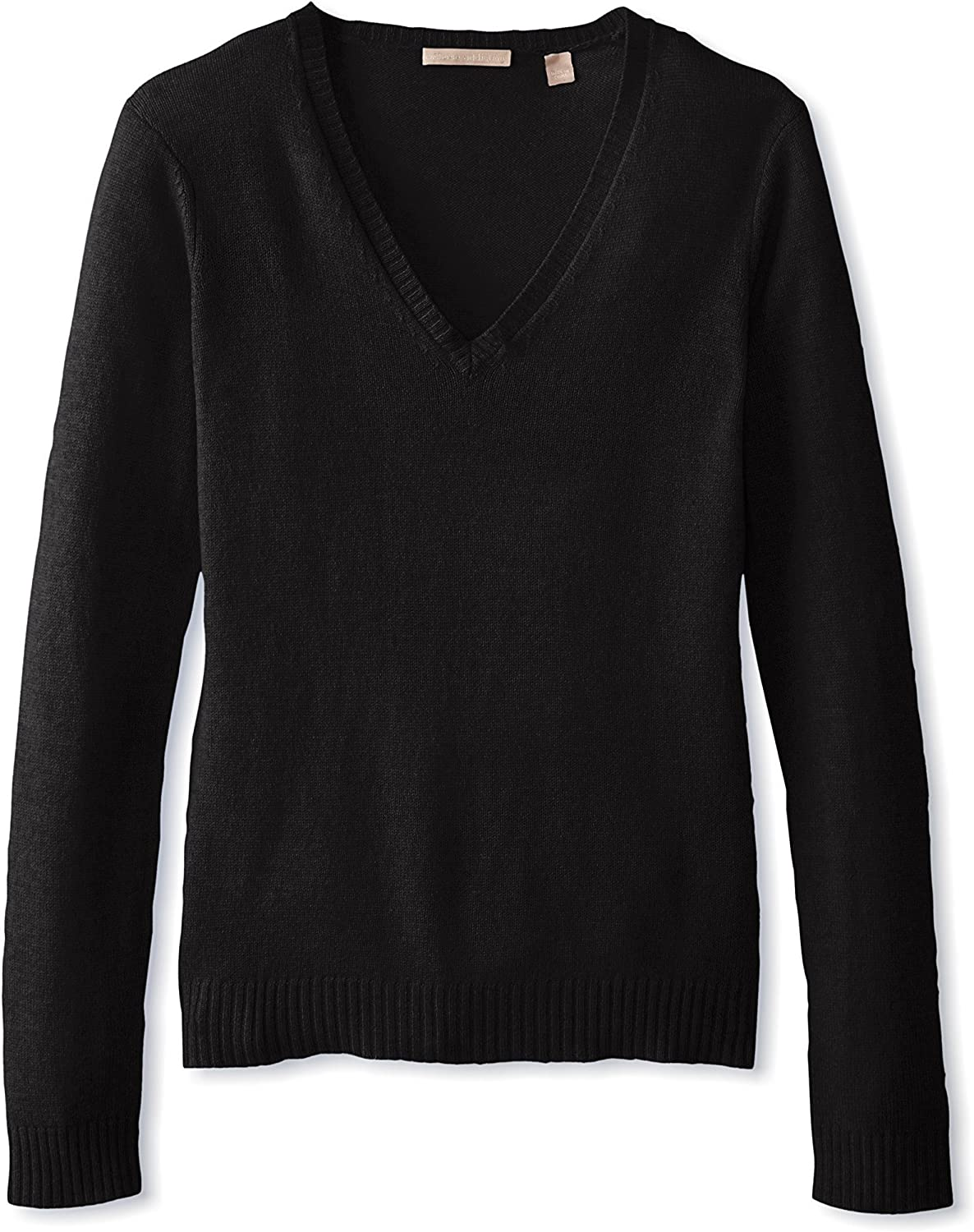 Cashmere Addiction Women's Long Sleeve VNeck Sweater