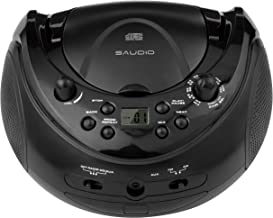 sAudio Portable CD Boombox, CD Player with AM FM Radio and Line-in Jack