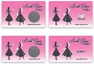 My Scratch Offs Bridal Shower Scratch Off Game Card - 25 Pack - Pink Vintage