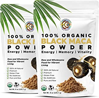 Earth Circle Organics Black Maca Root Powder | Raw Natural Superfood Mix | Essential Vitamins, Minerals & Fatty Acids for ...