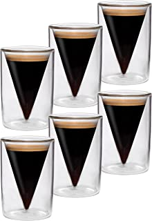 6x verres à double paroi de 70 ml, design moderne pour votre espresso - design exclusif, cadeau exceptionnel, Spikey (F) d...