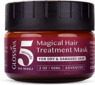 Glossiva Magical Hair Treatment Mask, Advanced Molecular Hair Root Treatment, Hair Mask Treatment for Damaged Hair (60 ML)