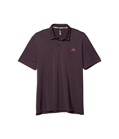adidas Golf Ultimate365 Space Dye Stripe Polo (Noble Purple/Power Berry/Legacy Blue) Men