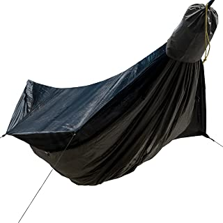 Go Camping Hammock 2.0 w/ Built-In Mosquito Net - Slate Gray by Go Outfitters: 11' Long X 64