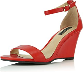 4daed56dd548 DailyShoes Women s Ankle Open Toe Wedge Fashion Shoes