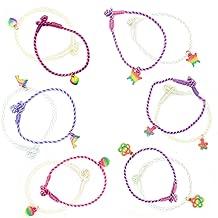 6 PCS VSCO Girl Solar Reactive String Bracelets for Teens, Color Changing UV Friendship Bracelets for Teen Girls, Kids BFF Rope Bracelet Changes Colors In The Sun, Thread Charm Bracelet Set