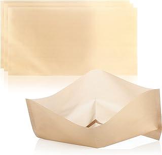 COM-FOUR® 4x sacs de pain grillé très grands sacs de pain grillé antiadhésifs réutilisables, pour les toasts au fromage da...