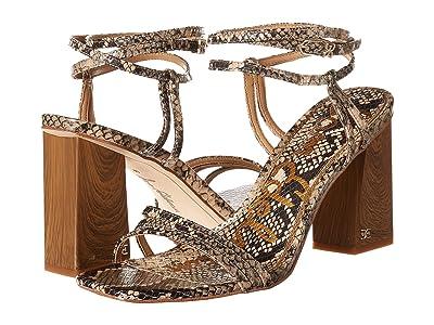 Sam Edelman Doriss (Pale Blush Exotic Snake Print Leather) Women