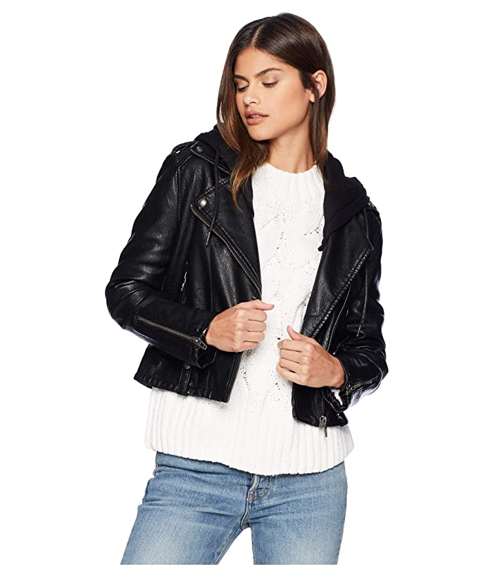 Blank NYC Vegan Leather Moto Jacket (Neo) Women