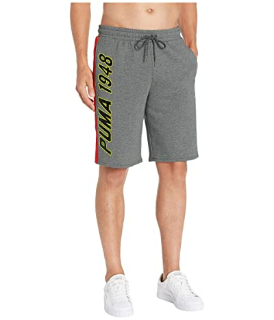 PUMA LuXTG Luxe Bermuda Sweatshorts (Medium Gray Heather) Men