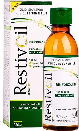 RestivOil Activplus Shampoo Rinforzante per Capelli, Olio Fisiologico con Azione Ricostituente e Riattivante, per Capelli Fragili e Sfibrati, 250 ml