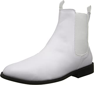 Pleaser Trooper-12, Bottines Homme, Blanc, 41.5/42.5 EU