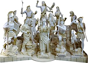 SET 12 Twelve Greek Roman Olympian Gods Pantheon Statue Sculpture Figure