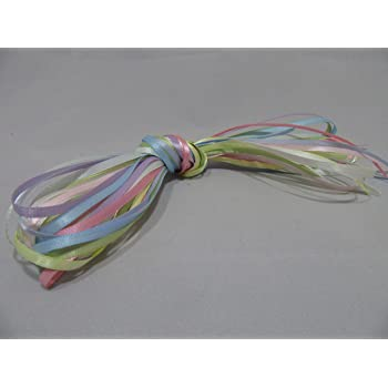 BRIGHT UNICORN RAINBOW COLOURS ONLY 10 x 1m x 3mm Satin Ribbon Assorted bundle double sided 10 metres dark 3 mm