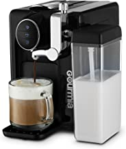Gourmia GCM6500 1 Touch Automatic Espresso Cappuccino & Latte Maker - Italian Style Coffee Machine - Brew & Froth Milk, Black